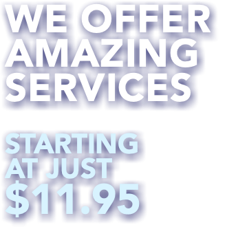 We Offer Amazing Services Starting